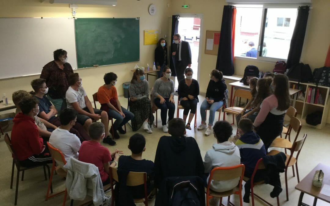 Alain Cadec était en visite au Collège…